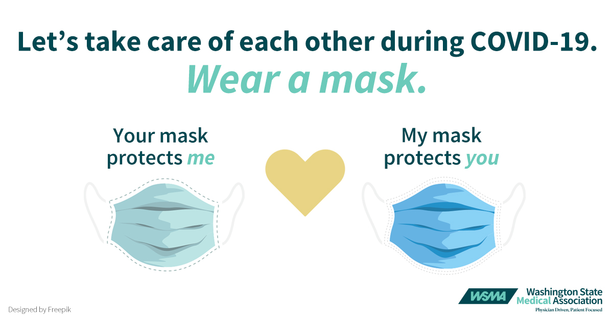 Wear a mask, take care of each other logo