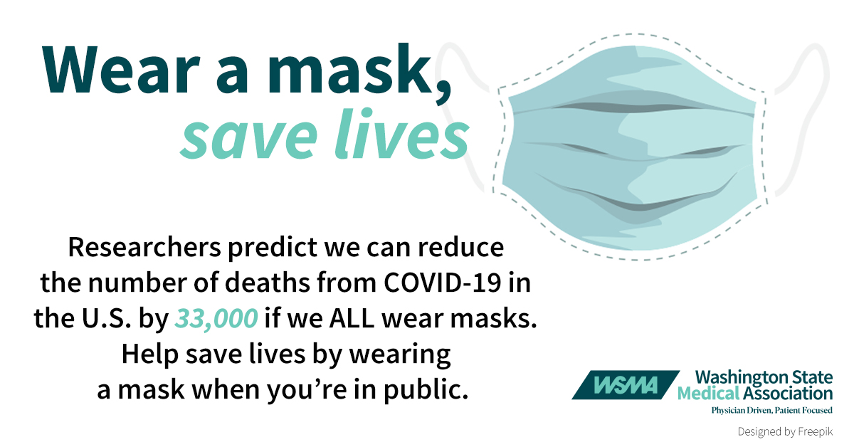 Wear a mask, save lives logo