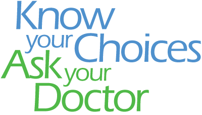 Know Your Choices, Ask Your Doctor logo