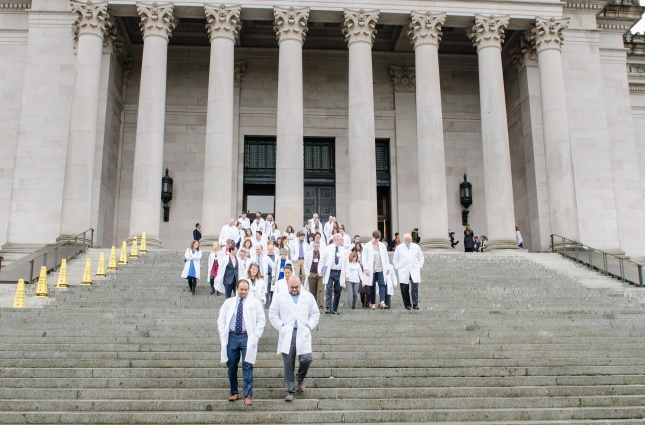 Physicians on the Capitol steps